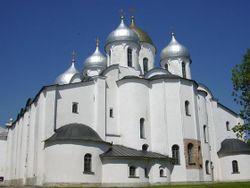 Началось строительство Софийского собора...
