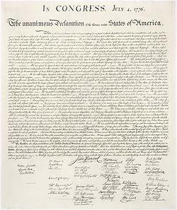 Принята Декларация независимости США. ...