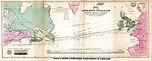 Завершена прокладка трансатлантического телеграфного...