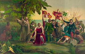 Христофор Колумб высадился на...