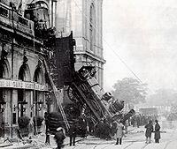 Крушение на вокзале Монпарнас. ...